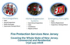 Are you looking for Fire Protection Services in New Jersey for your business? Atlantic Fire Protection is a licensed company in New Jersey that provides Fire Protection Services including Fire Extinguishers, Kitchen Suppression Systems and Emergency and Exit Lighting.