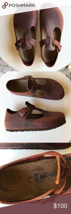7a694d9e2bba Birkenstock london red clogs size 37