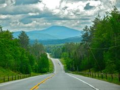 This is a view of Blue Mountain on Route 30 between Sabattis Road near the Whitney Wilderness heading into Long Lake, NY.  The view is striking anytime of the year.  www.mylonglake.com