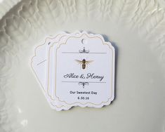 Honey Tags Wedding Favor Tags Custom Honey by SandpiperPress