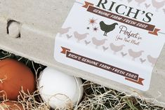 Rich's Farm fresh eggs