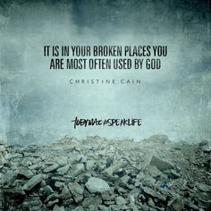 it is in your broken places you are most often used by god Bible Verses Quotes, Encouragement Quotes, Faith Quotes, Scriptures, Quotes About God, Quotes To Live By, Tobymac Speak Life, Spiritual Inspiration, Spiritual Quotes