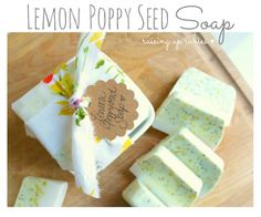 mother's day gift idea ... ♥ lemon poppy seed soap