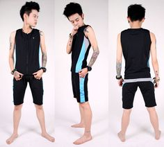 Dual Layer Binder Swimsuit Easy to wear two piece design. Swim Tank includes an elastic design around waist to minimize rolling up. Extra inner sponge layer for better binding performance and extra padding. Great for any kind of water related sports.