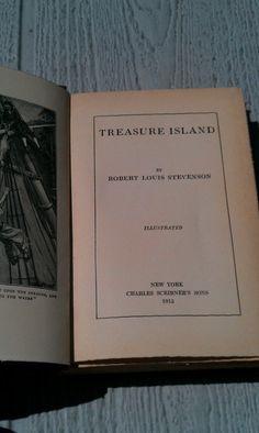 Vintage 1915 illustrated copy Treasure Island by VintageGemsMaine, $35.00