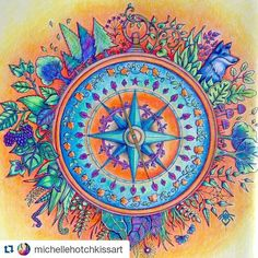 #Repost @michellehotchkissart with @repostapp ・・・ Finished the page in the… --> If you're in the market for the top-rated adult coloring books and writing utensils including colored pencils, drawing markers, gel pens and watercolors, visit our website at http://ColoringToolkit.com. Color... Relax... Chill.