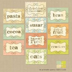 for the pantry-this site also has other great printables for sale