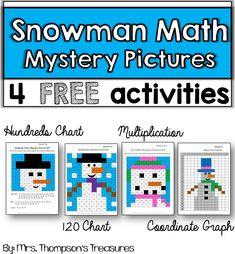 Free snowman math my