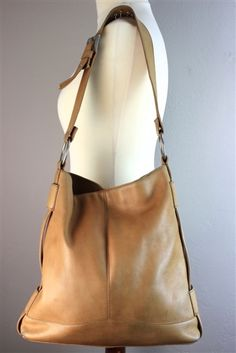 Hobo Leather Tote Handbag - great for books and more.