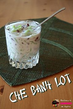 Chè Bánh Lot (Vermicelles au Pandan, Sirop de Canne)