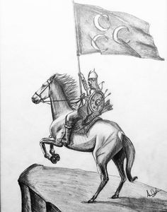 worrior with horse , alparslan