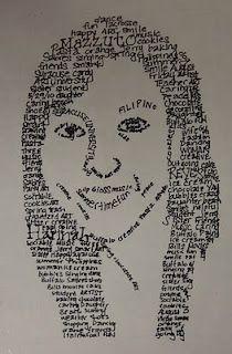 Micrography Portrait: Art. Paper. Scissors. Glue!: Micrography Portrait