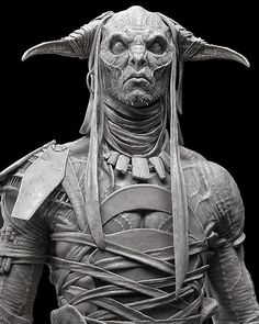 by Rafael Grassetti Fantasy Demon, 3d Fantasy, Dark Fantasy, Zbrush Character, Alien Character, Character Art, Creature Concept Art, Creature Design, Ancient Greek Sculpture