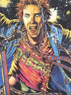 PUNK ROCK ICONS GET THE COMIC BOOK TREATMENT IN 'VISIONS OF ROCK,' 1981 | John Lydon by Brendan McCarthy