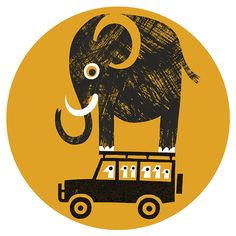Lo Cole's illustration for The Guardian Weekend Magazine column: What I'm Really Thinking - the safari camp host
