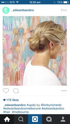 Edwards and Co updo Up Hairstyles, Wedding Hairstyles, Updos, Salons, Hair Beauty, Dreadlocks, Hair Styles, Pretty, Instagram Posts