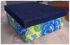 Caixa decorada com tecido de Chita