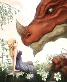 The Princess And The Dragon by Yoriru  (Fairy Tail)