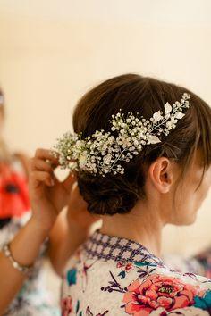 Gypsophila wedding hair flowers // Bohemian Weddings // The Natural Wedding Company Wedding Hair Flowers, Flowers In Hair, Gypsophila Wedding, Bohemian Weddings, Barbie Wedding, Wedding Inspiration, Wedding Ideas, Wedding Company, Festival Wedding