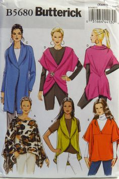 5f0e363bfb1 Butterick 5680 Misses  Wrap and Jacket