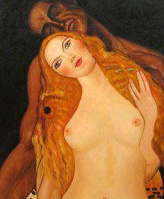 Gustav Klimt- Adam and Eve