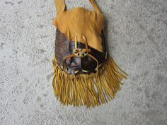 XL Snapping Turtle Shell  Purse Shoulder Bag w/ Buckskin Leather Native Inspired by rainbownativetraders on Etsy