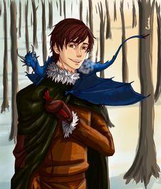 Winter by GamaV.deviantart.com on @deviantART | Awwe! It's Eragon & baby Saphira!!