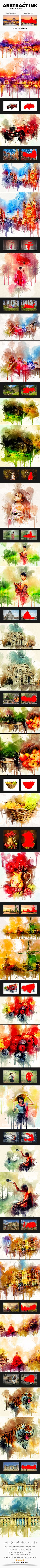 Abstract Ink Art #Photoshop #Action - Photo Effects Actions