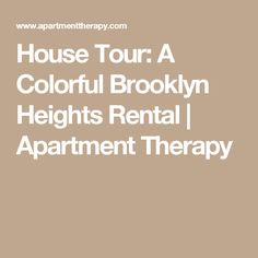 House Tour: A Colorful Brooklyn Heights Rental | Apartment Therapy