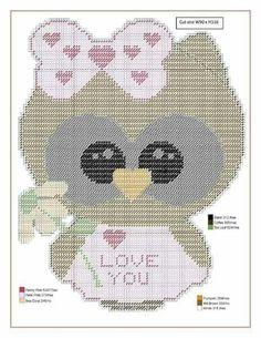 Owl Patterns, Needlepoint Patterns, Perler Patterns, Craft Patterns, Crochet Patterns, Plastic Canvas Christmas, Plastic Canvas Crafts, Plastic Canvas Patterns, Valentine Crafts