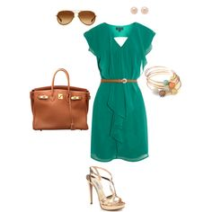 I want to go on a date night just to wear this! Camel, Teal and Gold! ♥