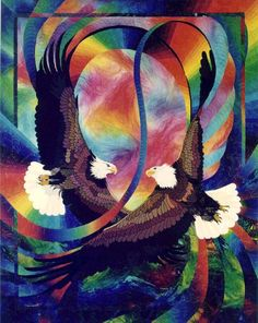Eagle Duet Quilt by Caryl Bryer Fallert