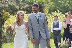 Mint farm wedding ceremony.   Sophia Tolli Roslin Dress  sunflower field