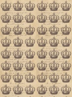 Free digital crown paper. Use pink, green or any color paper
