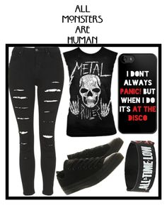 """Scene #8"" by blaz3drag0n on Polyvore featuring Topshop and Converse"