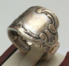 Antiker Besteck Silberring,  Gr. 16,7 mm, S122 von Atelier Regina auf DaWanda.com