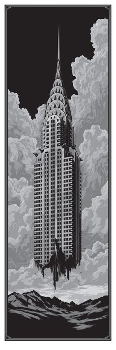 """Ascension"" by Ken Taylor. 12″ x 36″ Screenprint. Ed of 100 S/N."