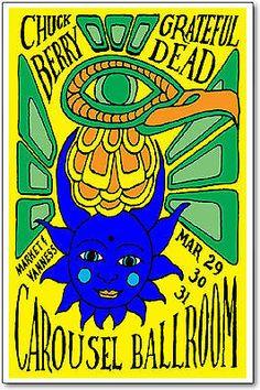 Chuck Berry / Grateful Dead Poster, 1968