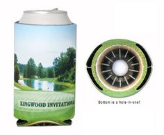 Take a can koozie to the next level. Send us a picture of the golf course you are hosting the tournament at and we will put it on the can koozie in full color with the tournament name/logo on it. #golftournamentgifts