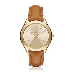 2e6958bf780 Women Watches - Michael Kors Womens Slim Runway Brown Watch MK2465   See  this great product