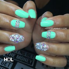 HAUS OF LACQUER » Bling nails for @dianneleslie_ done at...