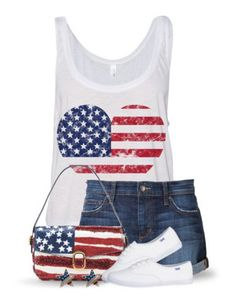 """""""4th of july sets"""" by mcp-michelle ❤ liked on Polyvore featuring Joe's Jeans, redwhiteandblue, flag and july4th"""