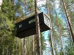 Credit: PR Treehotel, Boreal forest, near Luleå,  Lapland, Sweden  An hour north of the Arctic town of Luleå, Treehotel has five treehouses designed by Swedish architects: the Cabin (pictured), Bird's Nest, Mirrorcube, Blue Cone and UFO, each stunningly different and magical. All perch high in the canopy, with great views over the Luleå river, meaning you can catch the northern lights in winter, or watch wildlife pass below through 24-hour summer ...