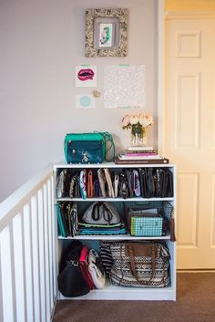 12 Small-Space Tips for the Purse-Obsessed Gal | Brit + Co