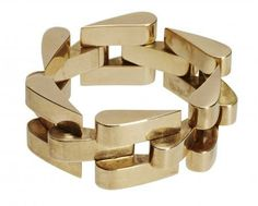 18 ct gold chunky bracelet 1940s French