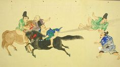 japanese fart scrolls depict the ancient practice of he-gassen or farting competition