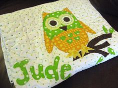 Owl baby quilt - something to make