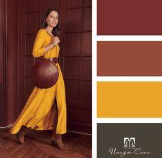 Colour Combinations Fashion, Color Combinations For Clothes, Fashion Colours, Colorful Fashion, Colour Pallete, Colour Schemes, Color Trends, Color Combos, Color Harmony