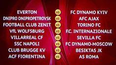 tabellone ottavi di #europaleague  #roma #fiorentina #inter #napoli #torino