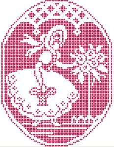 Advanced Embroidery Designs - Flower Girl in Assisi Technique